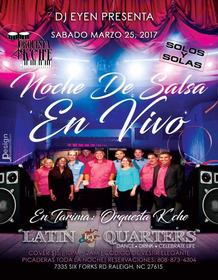 Enjoy Salsa, Merengue, Cumbia with the Hottest band in NC !